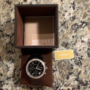 Michael Kors Black Ceramic Watch